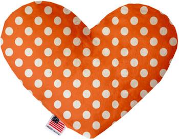 Melon Orange Swiss Dots Heart Dog Toy, 2 Sizes
