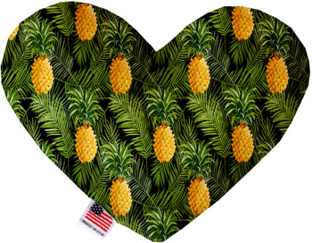 Pineapples In Paradise Heart Dog Toy, 2 Sizes