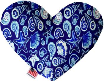 Blue Seashells Heart Dog Toy, 2 Sizes