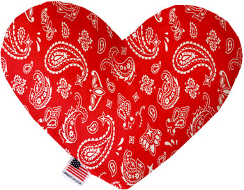 Red Western Heart Dog Toy, 2 Sizes