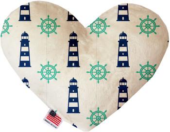 Lighthouses Heart Dog Toy, 2 Sizes
