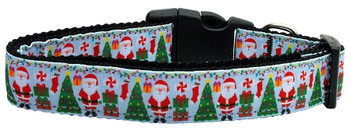 Aqua Santa Nylon Dog & Cat Collar