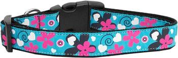 Aqua Love Nylon Dog & Cat Collar