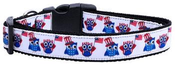 American Owls Nylon Dog & Cat Collar
