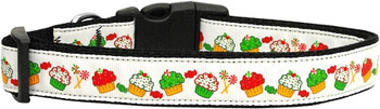 Christmas Cupcakes Nylon Dog & Cat Collar
