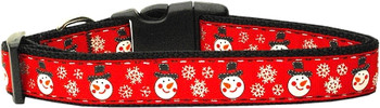 Snowmen Nylon Dog & Cat Collar