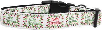 Feliz Navidad Nylon Dog & Cat Collar
