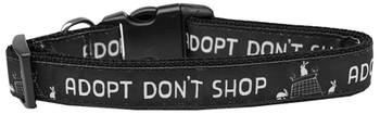 Adopt Don't Shop Nylon Dog & Cat Collar