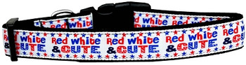 Red, White, And Cute! Nylon Dog & Cat Collar