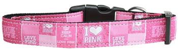 I Heart Pink Nylon Dog & Cat Collar