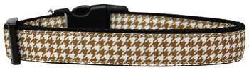 Brown Houndstooth Nylon Dog & Cat Collar
