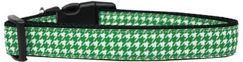 Emerald Green Houndstooth Nylon Dog & Cat Collar