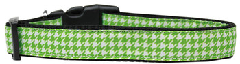 Lime Green Houndstooth Nylon Dog & Cat Collar