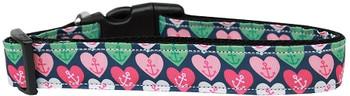 Anchor Candy Hearts Nylon Dog & Cat Collar