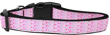 Many Mini Hearts Nylon Dog & Cat Collar