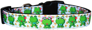 Happy Frogs Nylon Dog & Cat Collar