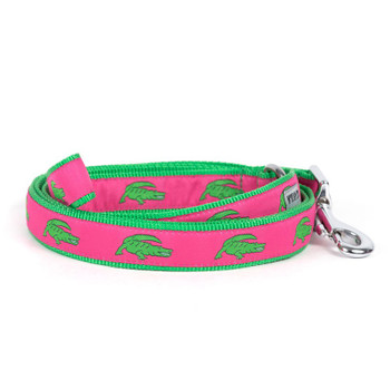 Alligator Pet Dog Collar & Leash