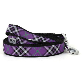Bias Plaid Purple Pet Dog Collar