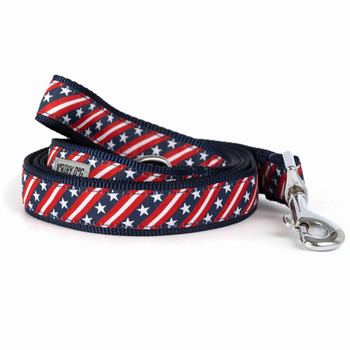 Bias Stars & Stripes Pet Dog Collar & Optional Lead