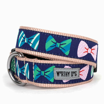 Bow Ties Pet Dog Collar & Optional Lead