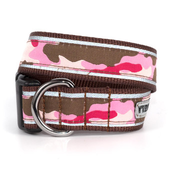 Camo Pink Pet Dog Collar & Optional Lead