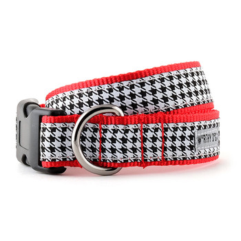 B&W Houndstooth Pet Dog Collar & Optional Lead