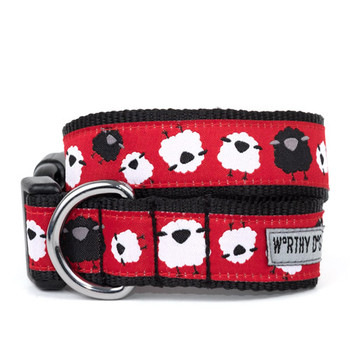 Counting Sheep Pet Dog & Cat Collar & Optional Lead