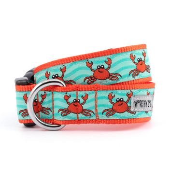Crabs Pet Dog Collar & Optional Lead