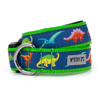 Dino Pet Dog Collar & Optional Lead