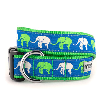 Elephants Pet Dog Collar & Optional Lead