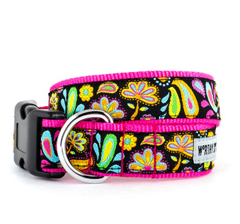 Floral Paisley Pet Dog & Cat Collar & Optional Lead
