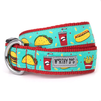 Food Fest Pet Dog Collar & Optional Lead