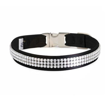 3 Row Giltmore Perfect Fit Pet Dog Collar - Over 40 Colors