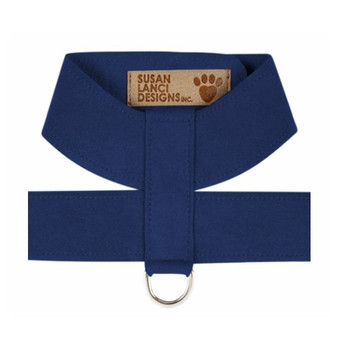 Indigo Blue Plain Dog Tinkie Harnesses by Susan Lanci Designs