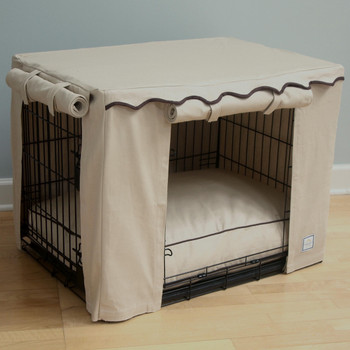 Crate Cover - Stone Beige & Optional Bed