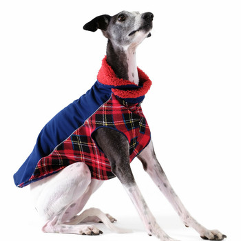 Portland Pullover Dog Wrap - Navy/Red Plaid