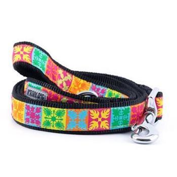 Hawaiian Patchwork Pet Dog Collar & Optional Lead