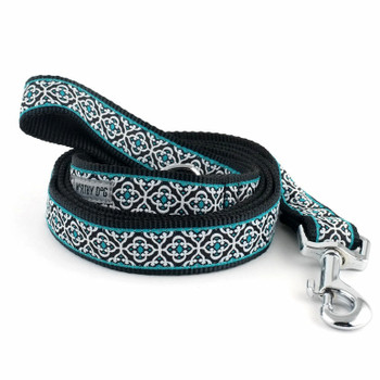 Knightsbridge Teal Pet Dog Collar & Lead