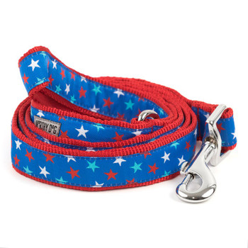Patriotic Stars Pet Dog Collar & Lead