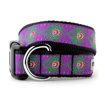 Peacock Pet Dog Collar & Optional Lead
