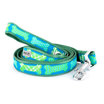 Preppy Bones Blue Pet Dog Collar & Optional Lead