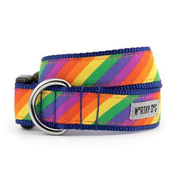 Rainbow Pet Dog Collar & Optional Lead