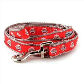 Sock Monkey Pet Dog & Cat Collar & Optional Lead