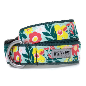 Spring Bouquet Pet Dog Collar & Optional Lead