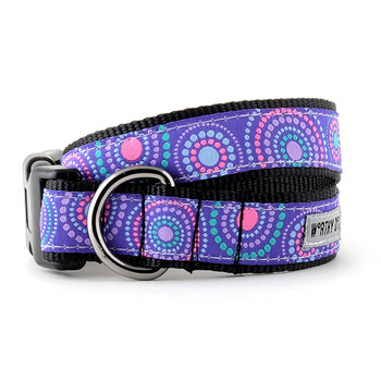 Sunburst Purple Pet Dog Collar & Optional Lead