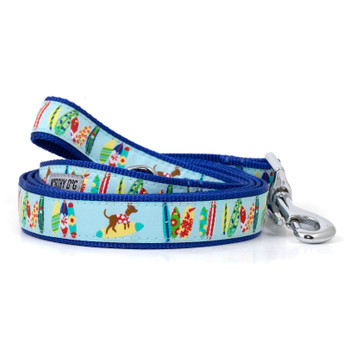 Surfs Up Pet Dog Collar & Lead