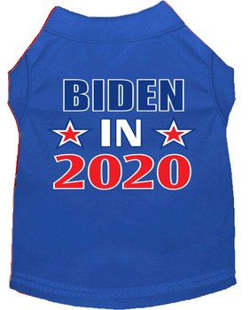 Biden in 2020 Screen Print Dog Shirt