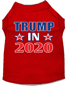 Trump in 2020 Screen Print Dog Shirt