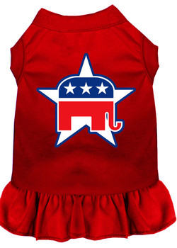 Republican Screen Print Dog Dress