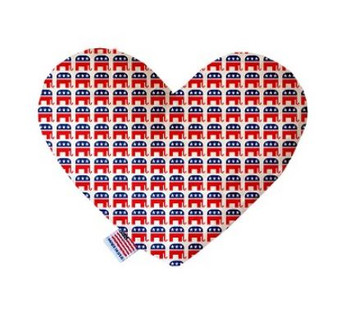 Republican Heart Dog Toy, 2 Sizes